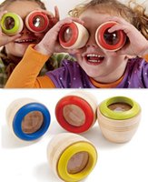 Wholesale Wooden Educational Magic Kaleidoscope Baby Kid Children Learning Puzzle Toy New Hot Sale Toys