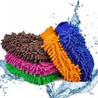 Wholesale Microfiber Chenille Car Cleaning Mitt Car Wash Cleaning Gloves Equipment Car Detailing Cloths Car Wash Glove Towel Home Duster Cleaning D156