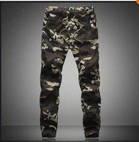 Wholesale DSGS M XL2016 Mens Jogger Autumn Pencil Harem Pants Men Camouflage Military Pants Loose Comfortable Cargo Trousers Camo Joggers