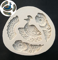 Wholesale D The Peacock Shapes Silicone Sugarcraft Moulds Fondant Cake Decorating Tools Silicone Soap Moulds