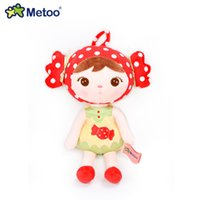 baby dress up dolls - Metoo Lucky Dolls Mini Cute Stuffed Toys Plush Doll For Girls Bag Chain Toy Multicolor Dress up Skirt Dolls Gift For Baby Kids