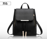 barrel light - Quality korean PVC leather women leather tote handbag fashion Brand designer candy colorRivets backpacks Middle Small large Size for choice