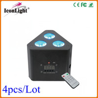 Wholesale 3x10W Mini LED Uplight RGB in1 Color Mixing DMX LED Christmas Light with IRC Remote Control