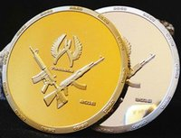 america gold coins - 2 war game CSGO counter strike global offensive brass core gold silver plated America souvenir coin set
