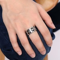 asian euro - New Arrival Men s Titanium Steel Band Ring Black Color Euro and USA Style12mm Width Men s Fashion Jewelry