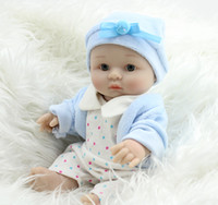 Cheap Full Body Silicone Reborn Dolls Mini Cute Baby Boy Doll 8 inch Soft Vinyl Dolls Kids Washing Playmate