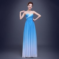 Wholesale New fashion hot sale women sexy elegant backless colorful chiffon long evening dresses for partys or wedding