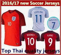 Wholesale best thai quality EURO England men s Jersey WALCOTT KANE Rooney STERLING football Shirts England soccer jerseys