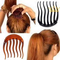 Wholesale Useful Volume Inserts Hair Clip Bumpits Bouffant Pony tail Hair Comb Bun Hot