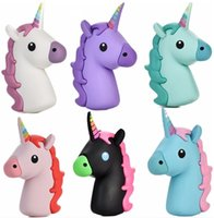 Wholesale 2016 New Portable Emoji Power Bank Battery MAH Charger Unicorn Cartoon USB Bateria For Iphone S S S SE Xiaomi Sumsung