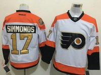 Wholesale 2016 Mens Philadelphia Flyers Wayne Simmonds White rd th Anniversary Patch Ice Hockey Jerseys Free Drop Shipping holypote