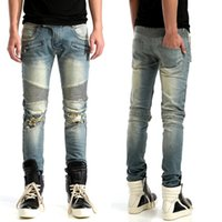 Wholesale NWT BP Men s Fashion Runway Biker Slim Stratch distressed Washed Denim Jeans Size