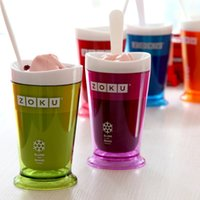 Wholesale 2016 ZOKU Slush Shake Maker Ice Make Smoothie Cup Authentic Home made Ice Cream Tools Creative Cups Drinkware Factory