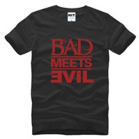 army bad - WISHCART Eminem Bad Meets Evil rap rock Men s T Shirt T Shirt For Men New Short Sleeve Cotton Casual Top Tee Camisetas Masculina