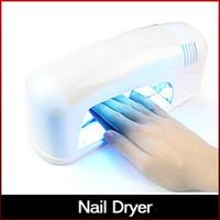 Wholesale Professional UV Nail Art Dryer Lamp W Nail Art Tools Gel UV Lamp Light Nail Dryer V Quick Dry Lamp freeshipping