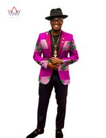 Wholesale New Arrival Autumn Fashion Brand Men Blazer Designs African Print Mens Blazer Coat Dashiki Dresses Long Sleeve Plus Size WYN202