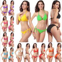 beachwear manufacturers - 10 color petals latest fashionable element concentrated hot style sexy triangle bikini beachwear swimwear DM053 manufacturer