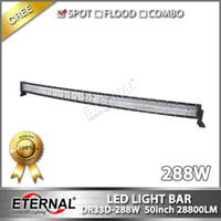 Wholesale 50in W led light bar Wrangler offroad JK YJ TJ x4 ATV UTV motorcycle SUV F150 F250 Carolla driving spot lamp headlight