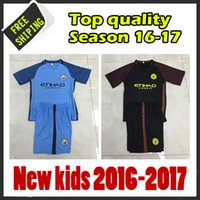 best hiking - 2017 New arrived Manchester citys jersey kids Best quality Soccer shirts black jerseys Custom