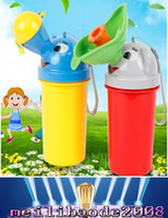 Wholesale Baby Cartoon portable urinal EMS children style Potty Training Portable Travel Urinal Stretch Car Toilet For Boy Girl Kids urinal MYY