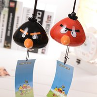bell bird - Angry birds lovely delicate ceramic bells of three kinds of style