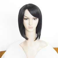 Wholesale 2016 New Hair Products Wigs Synthetic Short Bob Wig Lace Front Black Color inch g Rihanna s Hairstyle Perruque Synthetic Wig