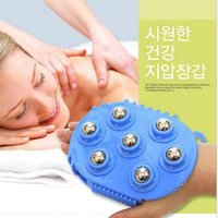 Wholesale Health Care Handheld tools Degree Rotation pieces Magnetic Beads Mini Body Massage Brush Steel Ball Massager Slimming