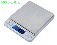 bench kitchen tables - 500g g Mini Digital Jewelry Table Scale g Kitchen Weighing Scales Two Trays Electric Gram Weight Balance Items