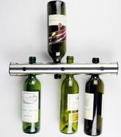 Wholesale Stainless Steel Bar Wine Rack Wall Mounted cm L cm Diameter Wine Shelf Holder for Bottles holding