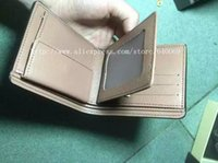 animal lacing cards - Hot selling leather brand wallet and purse with gift box