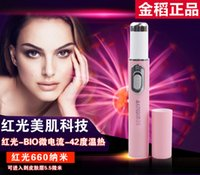 Wholesale Red Beauty wrinkle pen remove bacteria acne Acne Indian beauty massage pen KD