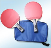 Wholesale Table Tennis Set Long Short Handle Shakehand Table Tennis Pingpong With Two Rackets Three Balls One Bag For Outdoor Sports