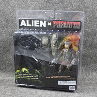 other best finish - NECA Alien VS Predator Tru Exclusive Pack PVC Action Figure best christmas gift Toy