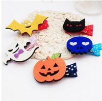 bat clip - New Girls Halloween Hair Clips Baby Pumpkin Bats Hair Clips Childrens Hair Accessories Baby Party Barrette Color