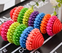 Wholesale Colorful Rubber Pet Dog Puppy Dental Teething Healthy Teeth Gums Chew Toys Tool JIA602 ZO030B