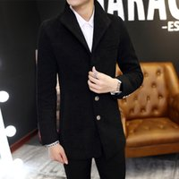 Wholesale Fall Teenagers in the long section woolen coat jacket men cultivating482