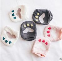 bear paw socks - Cartoon d socks New boy socks bear paw Coral Autumn Winter Baby Short Socksing Toddler anti slip socks W279