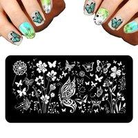 Wholesale New Set Nail Stamping Plates Fashion Designs Nail Art Templates Big Nail Stamp X6cm DIY Plates For Stamping Nail Art