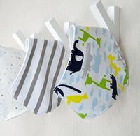 baby smock pattern - 3pc Pattern Cute Cotton Baby Towel Toddler Newborn Triangle Scarf Babero Girls Feeding Smock Infant Bibs Burp Cloths