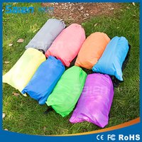 Wholesale Inflatable Lazy Bag Air Sofa T Nylon Laybag Air Sleeping Bag Camping Portable Beach Bed Lazy Bag Air Lounger Lamzac