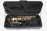 Wholesale Alto Saxophone with Black Body Gold Lacquer Surface Brass Material Eb Tone and Can be Customized