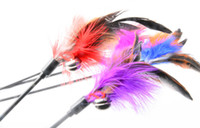 Wholesale 2016 new Cat Toys Feather cat play toys cat s play stick pet products pet supplies accessories