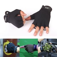 Wholesale 1Pair Military Half finger Gloves Fingerless Tactical Airsoft Hunting Riding Cycling Gloves Boxing Summer Gloves for Men Women