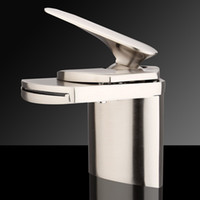 Wholesale Modern Waterfall Bathroom Bath Kitchen Basin Sink Mixer Tap Single Lever Faucet