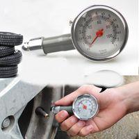 auto diagnostic meter - Auto Motor Car Bike Vehicle Tire Air Pressure Gauge Dial Meter Vehicle Tester mini Stainless steel precision diagnostic tool