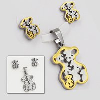 Bracelet,Earrings & Necklace jewelry made in china - Made In China bear Jewelry Accessories Charm Winnie earring jewelry set T0030