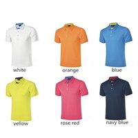 Wholesale Summer Golf Sportswear Men Golf Polo T Shirts Short Sleeve Quick Dry slim Sportswear Outdoor Sport Golf T Shirt