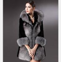 Wholesale 2016 Winter Women Plus Size Faux Fur Coat Fashion Long Jackets Silver Fox Fur Coat Ladies Outwear For Women