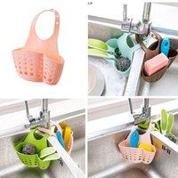 bath storage shelves - Hanging Drain Bag Basket Bath Storage Gadget Tools Sink Holder Shelves Soap Holder Kitchen Dish Cloth Sponge Holder Storage