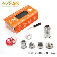 Wholesale Authentic IJOY LIMITLESS XL Tank W W ml Fan styled Airflow Rebuildable Elektronik Sigara Atomizer IJOY LIMITLESS XL
